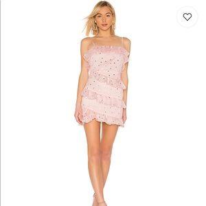 Lovers + Friends Trinity Mini Dress in Powder Pink